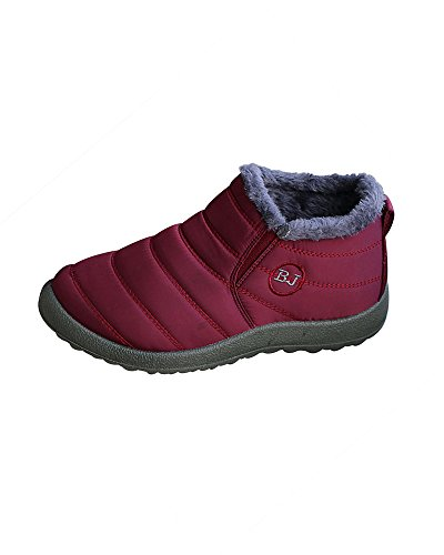 On Ankle Mrs Shoes Lined Men Outdoor Boots Fur and Boots Women Winter Duberess Red Slip Snow PAq1a