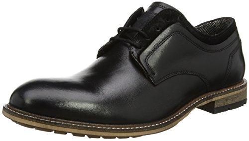 Hombre Gambol Cordones Madden para Negro Steve Black Low Derby de Zapatos Fq8n1gw4