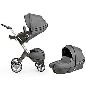 Amazon.com : Stokke Xplory Newborn Stroller in Black