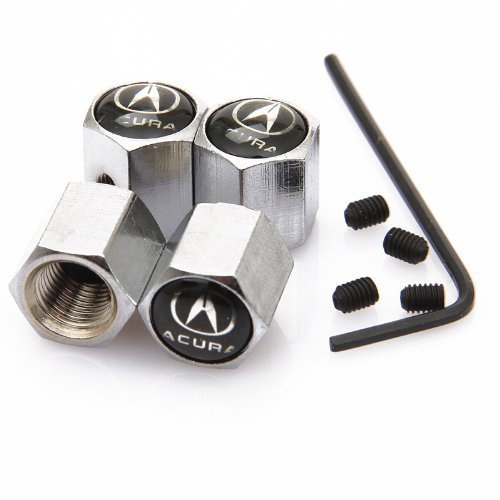 black-acura-anti-theft-chrome-car-wheel-tire-valve-stem-caps