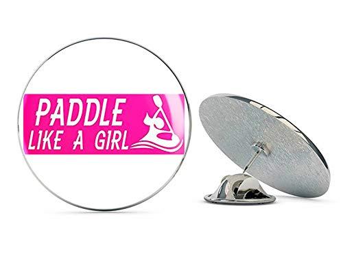 NYC Jewelers Pink Paddle Like a Girl (Kayak Canoe Kayaking Female) Metal 0.75