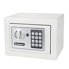 Whether you are storing money, jewelry, passports, or guns, the Stalwart Electronic Safety Lock Box is the perfect home safety and security system to keep your valuables secure. Made from steel, you can place this safe box in cabinets, closet...
