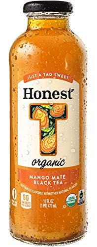 Honest Organic, Naturally Flavored, Just A Tad Sweet, Mango Mate Black Tea, 16 fl oz (6 Glass Bottles)