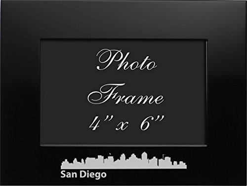LXG, Inc. San Diego, California-4x6 Brushed Metal Picture Frame-Black ()