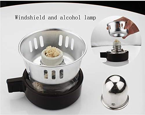 3 o 5 tazze Sifone da tavolo (Sifone) Caffettiera con bruciatore ad alcool, mestolo per caffè multiuso, tessuto filtrante e stoppino
