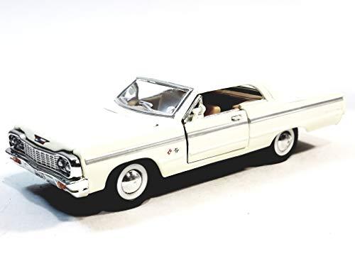 White Chevy Impala - Sunnyside 1964 White Chevy Impala 2 Door Sedan 1/34 Scale 5