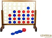 Giant 4 in a Row Premium Wooden Yard Games Set by TIMBER