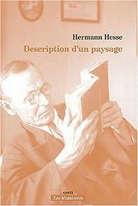 Description d'un paysage par Hermann Hesse