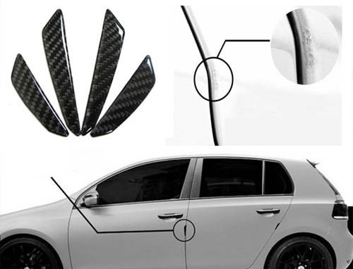 iJDMTOY Balck Real Carbon Fiber Car Side Door Edge Protection Guards Trims Stickers (Real Honda Cars compare prices)