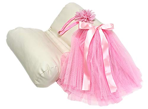 Newborn Photography Props for Girl Set – Butterfly Baby Pillow & Newborn Photography Outfit – Pink Tutu & Flower Headband - Photo Props for Baby Basket Filler and Backdrops – Newborn Gift for Girl by Sunshine Nooks, LLC (Image #8)