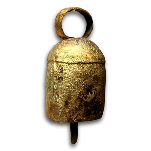 India Slip - One Dozen 2.5 inches high Rounded Top Tin Bells with Metal Striker Bell Chime
