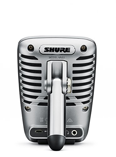 Shure MV51 Digital Large-Diaphragm Condenser Microphone + USB & Lightning Cable by Shure (Image #1)
