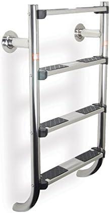 Fluidra Escalera para Piscina de Acero Inoxidable Escalera, Plata, 4 Niveles, 71 x 18 x 5 cm, m00189: Amazon.es: Jardín