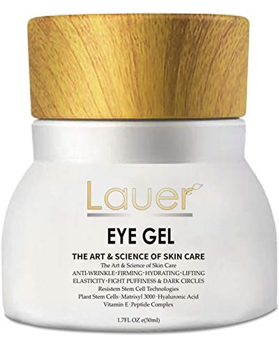 Lauer Eye Cream For Dark Circles and Puffiness – Anti Aging Wrinkle Remover Eye Gel – Under Eyes Treatment for Men and Women