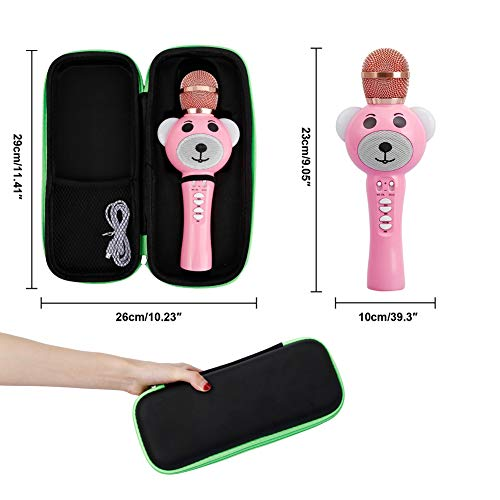 Upgraded 2019 Version Kids Karaoke Microphone with Bluetooth, Magic Voice Changer, and Flashing Multicolored LED Lights(Pink) by Garoma (Image #6)