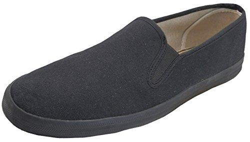 nurse Slip On Shoes - Black / White / Floral - Sizes 5 - 11 (8, Black) (Patchwork Flat Shoes)