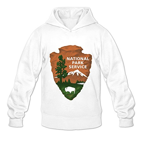 Price comparison product image US National Park Service Cool 100% Cotton White Long Sleeve Sweatshirt For Teenagers Size L