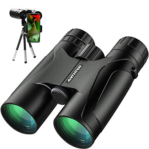 12X50 Powerful Binoculars, High Power HD Binocular for Adults with Smartphone Holder Tripod, Waterproof Binoculars with Durable and Clear FMC BAK4 Prism Binoculars for Bird Watching, Camping, Hiking