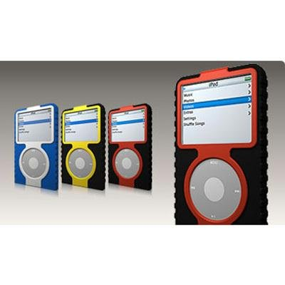 XtremeMac IPV-TA6-10 Tuffwrap Accent for iPod Video 60GB (Black/Red) (Durable Case For Ipod Classic)