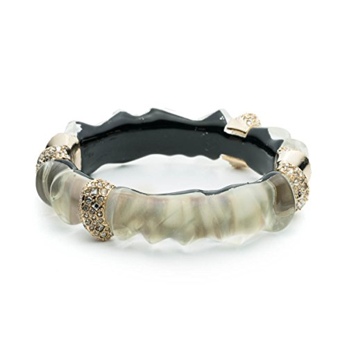 Alexis Bittar Mother of Pearl Crystal Sculptural Hinge Cuff ()