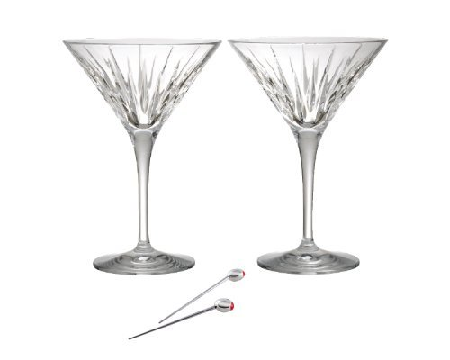 Reed & Barton Soho Martini Set of 2 with Olive Picks