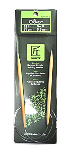 Clover Takumi Bamboo 29 Inch Circular Knitting Needle Size 9