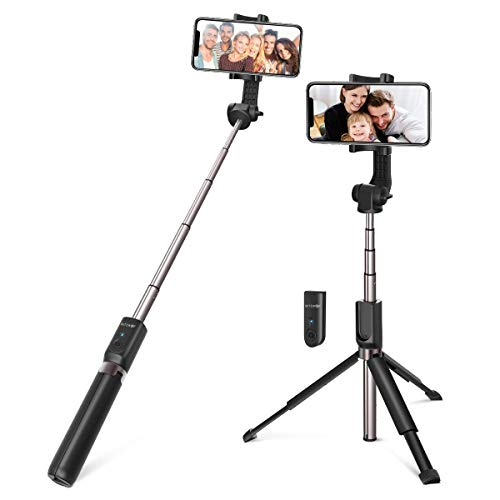 BlitzWolf 35 inch Super Long Extendable Selfie Stick with Wireless Remote and Tripod