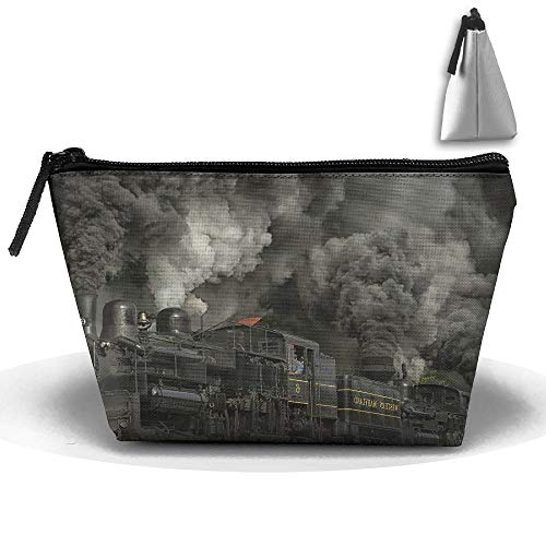 Makeup Bag Trapezoidal Storage Bag Train Locomotive Portable Cosmetic Bag Ladies Mobile Travel Bag (Telephone Locomotive)