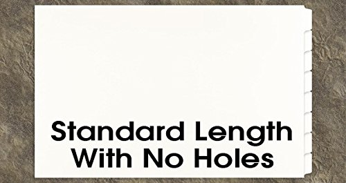 Ruby 2 Hole - 11x17 8 Tabbed Dividers with No Holes, Pack of 16, White (591801)