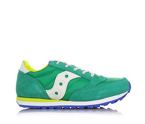 SAUCONY - Zapatilla deportiva azul marino con cordones, en gamuza y sintético, colorida, cómoda y de moda, niño, niños, hombre Green/OFF White/Azule