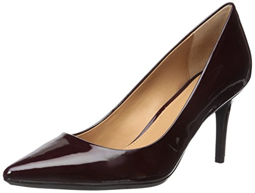 Calvin Klein Women's Gayle Leather Pump, Oxblood, 8 Medium US by Calvin Klein