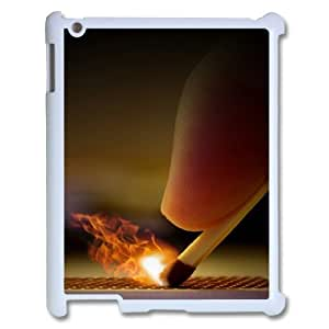 3D Lighted Matchstick IPad 2,3,4 2D Cases for Girls, Apple Ipad Case [White] by icecream design