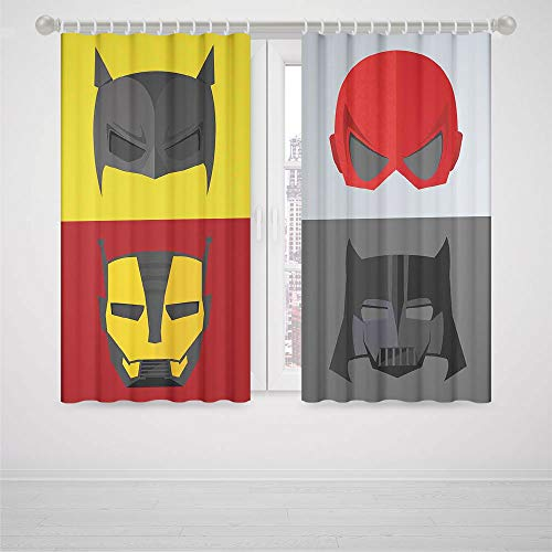 Arrow Bedroom Curtains Superhero Masks for Disguise of