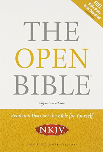 Download NKJV, The Open Bible, Bonded Leather, Black book pdf