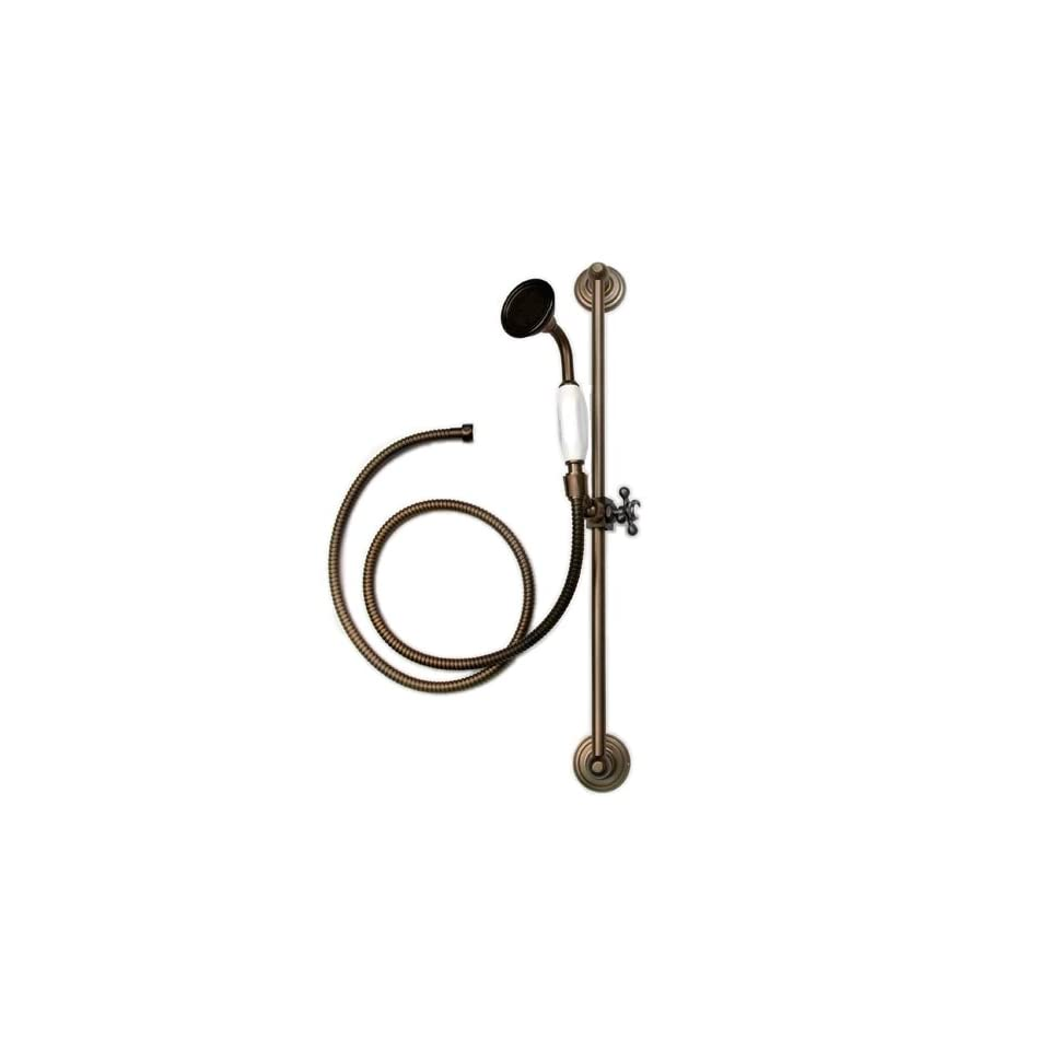 Nottingham Brass Adjustable Wall Mount Hand Held Shower with Slide Bar   Oil Rubbed Bronze