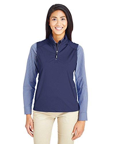 - Ash City Core 365 Ladies' Techno Lite Three-Layer Knit Tech-Shell Quarter-Zip Vest, Classic Navy 849, XX-Large