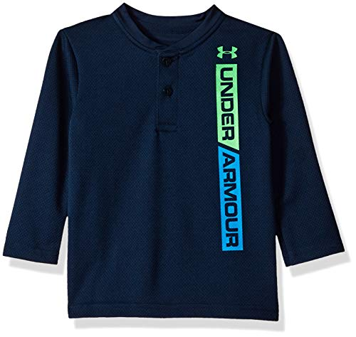 Under Armour Boys' Baby Long Sleeve Henley Tee Shirt, Ringer Academy 18M