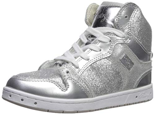 Pastry Glam Pie Glitter Dance Sneakers, Silver, Youth/Size 13