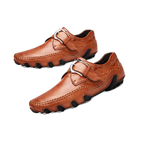 Autunno A Soft Round Sport da Ribbon Brown Punta Scarpe Inverno zmlsc Uomo Casual Business Estate Canvas Colore Primavera wBXP80qn