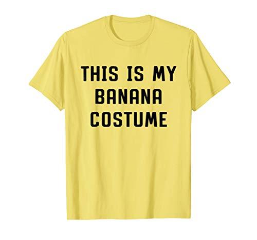 This Is My Banana Costume Halloween Funny T-shirt