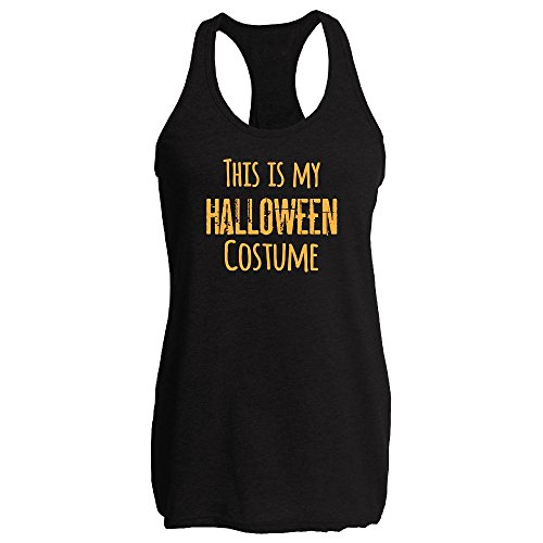 [This Is My Halloween Costume Black XL Womens Tank Top by Pop Threads] (Slim Jim Halloween Costume)