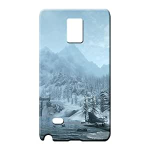 samsung note 4 Excellent Hot skin mobile phone case skyrim snowy mountains
