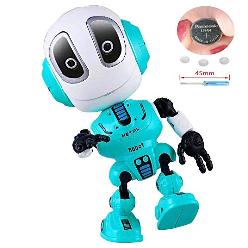 Blossm Robot Toy for Kids Talking Robot Toys Repeats Your Voice, Colorful Flashing Lights and Cool Sounds Robot Mini Robot Travel Toy for Kids Boys Girls Gift. (Blue)
