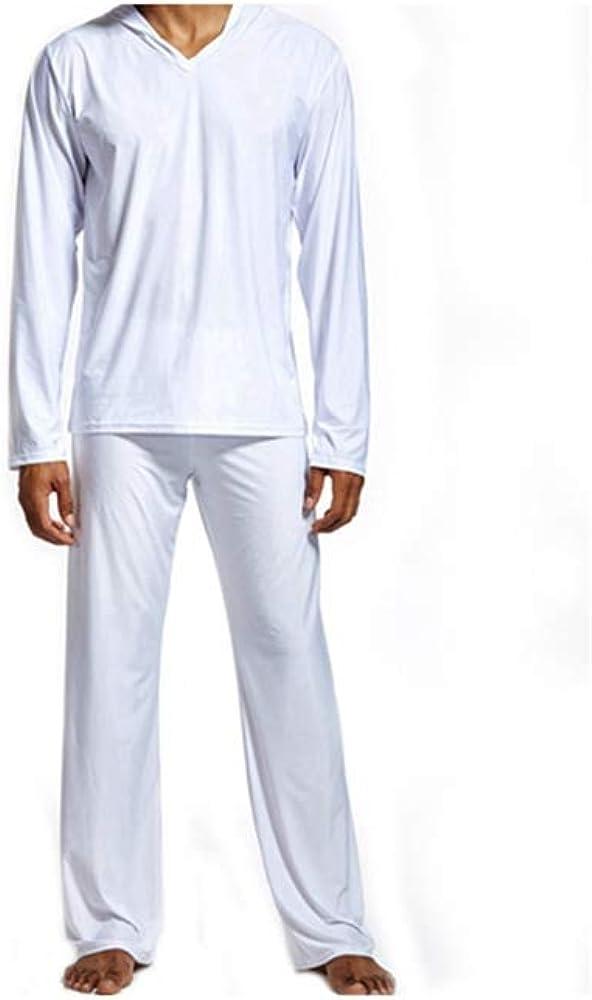 YUSM Pajama Men Lounge Home Sleepwear Through Shirts Tank Top Lounge Pants Bottoms