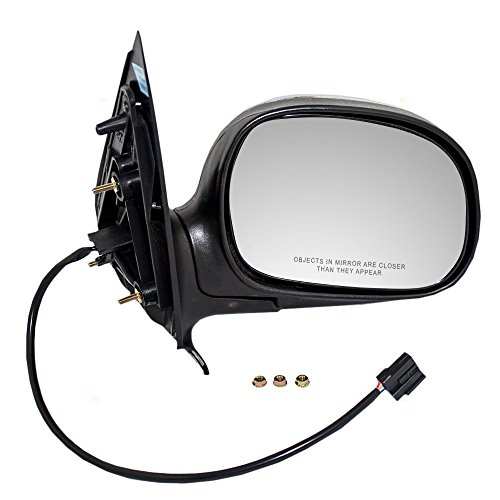 Passengers Power Side View Mirror with Chrome Cover Replacement for Ford Lincoln Pickup Truck SUV F85Z 17682 GAA