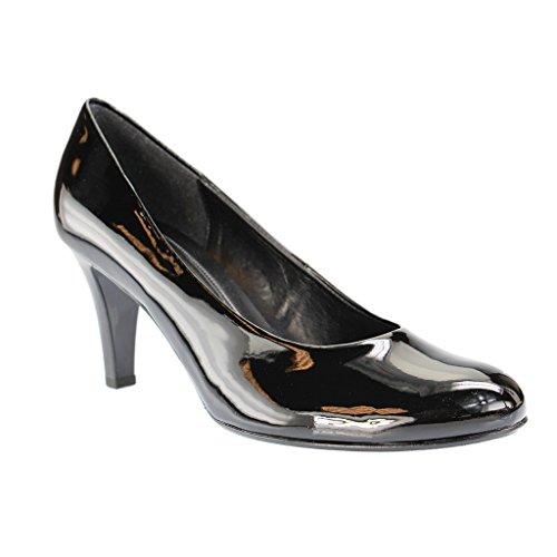 Gabor Shoes Basic, Zapatos de Tacón para Mujer Negro - negro