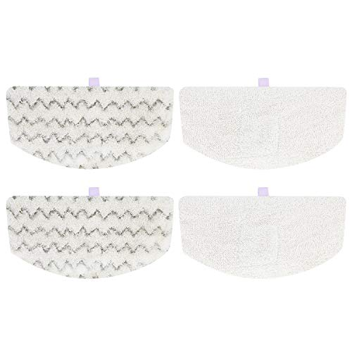 Isingo 4 Pack Steam Mop Pads Compatible Bissell PowerFresh 1806 1940 1544 1440 Series, Replacement Part Model #5938#203-2633