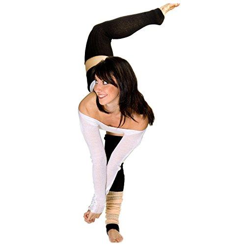 Ballet Loose Knit KD dance Nueva York calentadores de piernas suave, mullido Durable Made EE. UU.,  Blanco