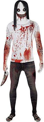 Jeff the Killer Kids Monster Morphsuit Urban Legend Costume  - Large 4'-4'6 / 10-12 Years