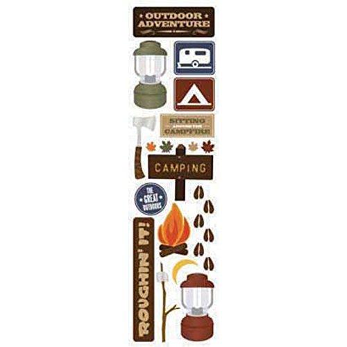 Outdoor Scrapbooking - Karen Foster 2-1/2 Inch by 10 Inch Clear Stickers, Outdoor Adventure